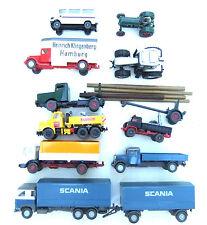 Interessantes  Wiking  Konvolut  LKWs Traktoren 10 Teile HO 1:87 #4044/102