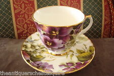 Duchess, England, Violets Pattern, cup and saucer, [*49]