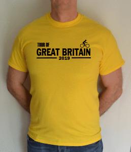 TOUR OF GREAT BRITAIN,2019,UK,FRANCE,YELLOW ,CYCLING,BIKE,YORKSHIRE,FUN,T SHIRT