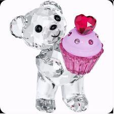 New Swarovski 5004484 Kris Bear Pink Cupcake Crystal Figurine