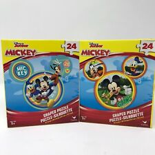"""Mickey Mouse 24 Pc Puzzle 9.1""""x10.3"""" Shaped Puzzle"""