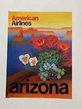 Vintage Original 1970s ARIZONA AMERICAN AIRLINES Travel Poster