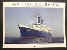 ms Achille Lauro . 12 Cruise Ships 1993 Calendar Near Mint . C.T. Pub. R. Weiss