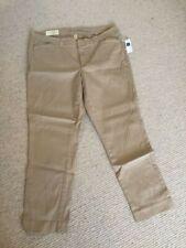 Gap Tan Sand Beige Ladies Capri Khaki Skinny Stretch Trousers Size 18 BNWT