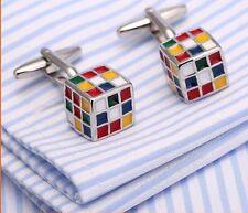 New 2018 Men's Novelty Rubik's Cube Cufflinks
