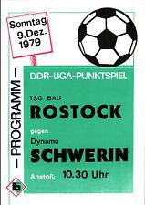 DDR-Liga 79/80 TSG construcción rostock-dinamo Schwerin, 09.12.1979