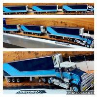REPLICAS KENWORTH PRIME MOVER FREIGHT ROAD TRAIN 1:64 TRAILER & DOLLY TRUCK