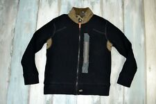 - G-STAR WALTON VEST KNIT MEN'S WARM BLACK JUMPER ZIP CARDIGAN size XL