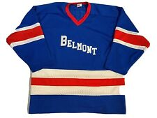 Vintage Hockey Jersey Xl Belmont Red White Blue Usa Hockey Colors