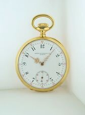 Patek Philippe Pocket Watch Engraved 18K Yellow Gold Circa1891 w/COA $30K VALUE