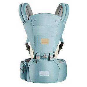 Baby Soft Carrier Comfort Adjustable Positions Ergonomic 360° All Seasons Green