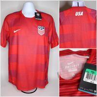 NWT $65 Mens Nike Dri Fit USA Football/Soccer Jersey Shirt Red : Size XL