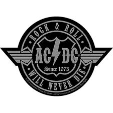 AC/DC Rock N Roll Never Die sew-on cloth patch 100mm x 70mm  (ro)