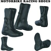 NEW Mens Motorbike Boots Biker Waterproof CE Armour Shoes Motorcycle Leather UK