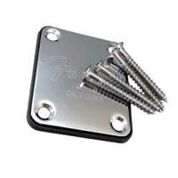 Electric Guitar Neck Plate Telecaster Guitar Neck Joint Board with 4 Screws #8Y