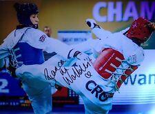 BIANCA WALKDEN - TAEKWONDO WORLD CHAMPION - SUPERB SIGNED ACTION PHOTO