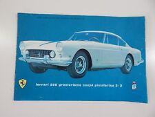 Original Ferrari 250 GTE Sales Brochure Pamphlet Handbook SWB GTO