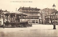Algeria Postcard Philippeville, Place de la Marine, Place of the Navy DG4