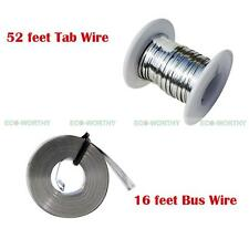 52' 2mm Tabbing Wire&16' 5mm Bus Wire Solder Kit for DIY Solar Cells Panel