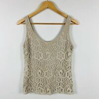 Guess by Marciano Womens Tank Top Size Small Lace Floral Design Great Condition