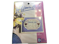 Vintage Cunted Cross Stitch Kit For Women Only Checklist Women Workers 1988