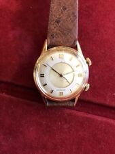 lecoultre Alarm Wrist Watch In Steel Back With Gold field Case