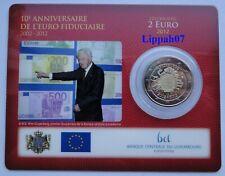 Luxemburg / Luxembourg speciale 2 euro 2012 10 jaar / Jahre Euro BU in Coincard