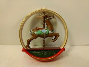 Poinçon 1987 Carrousel Renne Souvenir Sapin de Noël Ornement ch1074