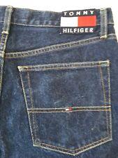 Vtg Tommy Hilfiger Flag Logo Jeans Hip Hop Mens Tag 34 x 30 Baggy Loose Fit Leg