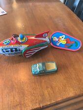 Vintage Tin Toy Lot Japan Ricket Racer Noise Maker Truck