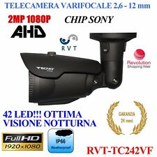 TELECAMERA FULL HD 2 MPX VARIFOCALE 2,6 - 12 MM  CHIP SONY ALTA QUALITA' AHD