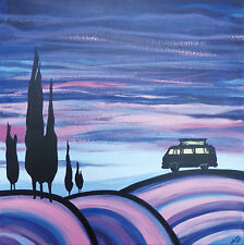 VW Campervan inspired art prints picture gift limited edition signed