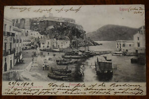 Ak Lipari Panorama, 1902 gelaufen