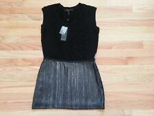 BCBG BLACK DRESS WITH ATTACHED SEQUIN SKIRT WOMEN SIZE 0