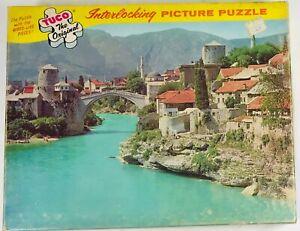 Vintage Early TUCO Puzzle Yugoslavia:Mostar The Turkish Bridge Series No. 5980-K