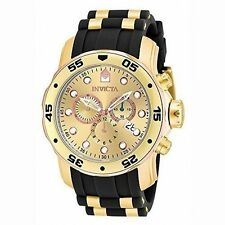 Invicta 17884 Mens Gold Dial Analog Quartz Watch With Polyurethane Strap