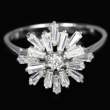 Diamond Lab-Created Cluster Fine Rings