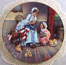 Gene Boyer Betsy Ross 3rd In The American Folk Heroes Series Plate Mint Cond