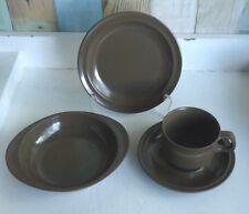 Vintage Melmac Bessemer Australia Cup, Saucer, Plate Trio & Bowl *Brown