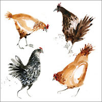 """Birthday Card Blank """"Chickens and Hens"""" Square size 6.25"""" x 6.25"""" 9221 EVEH"""