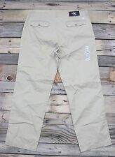 Calvin Klein Jeans Mens Classic Khaki Chino Casual Pants Size 34 x 30 NEW!