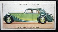 MG Two-Litre Saloon      Original 1930's Vintage Card  VGC