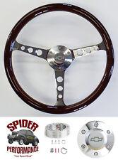 """1964-1966 Impala Caprice Chevy 2 steering wheel BOWTIE 15"""" CLASSIC MAHOGANY"""