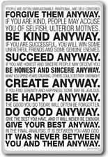 Mother Teresa Anyway Quote – motivational quotes fridge magnet