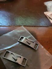 Sinister silver chrome nke Luxury Metal Lace Locks Tags Shoe Charms 2 pcs