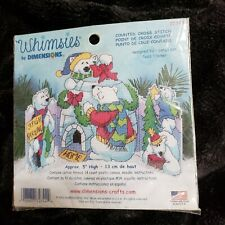 Dimensions Whimsies Polar Bears Christmas Plastic Canvas Counted Cross Kit 72744