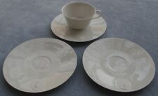 4 Pc KPM Arkadia Cup and Saucer Set, Saucers Diff. Medallions US Zone