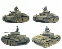1/144 WWII German Panzer II Ausf.J with Tank Crew by Metal Troops
