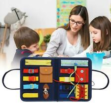 Montessori Toy Essential Educational Sensory Board For Toddlers Kids Child Game
