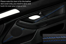 Azul Costura 2x Frontal Puerta Tarjeta Trim Skin Cover Para Bmw 5 Series E39 95-03
